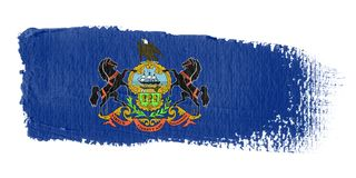 绘画的技巧标志宾夕法尼亚 免版税库存照片