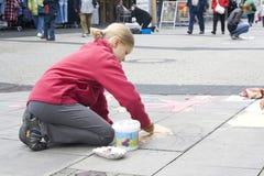 绘画街道 免版税库存照片