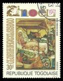 绘画西奥多母亲布拉格 免版税库存图片