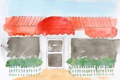 绘画餐馆水 免版税图库摄影