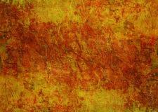 绘神秘的黄色红色橙色布朗难看的东西黑暗的生锈的被变形的朽烂老抽象纹理秋天背景墙纸的石头 免版税库存照片
