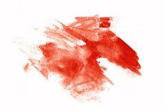 绘红色污迹 库存照片