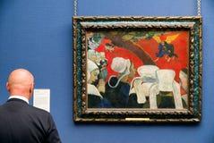 绘苏格兰国家肖像馆的保罗・高更在Edinbur 库存图片