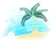 绘被绘的棕榈树 库存图片