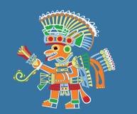 绘teotihuacan 免版税库存图片