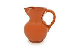 给上釉的瓦器水罐酒 免版税库存照片
