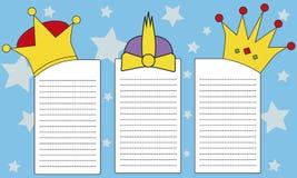 给东方的三位国王的信件 库存照片