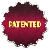 给予专利围绕徽章 库存图片