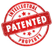 给予专利的印花税 免版税库存照片