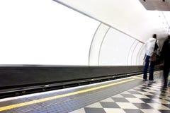 给伦敦海报站点地下做广告 免版税图库摄影