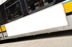 给公共汽车做广告 免版税库存图片