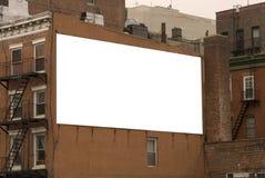 给准备好的广告牌做广告 免版税图库摄影