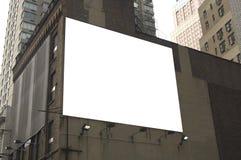 给准备好的广告牌做广告 库存照片