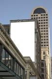 给准备好的广告牌做广告 免版税库存照片