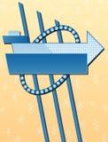 给减速火箭的符号做广告 免版税图库摄影