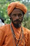 给印第安人国民穿衣 免版税库存图片