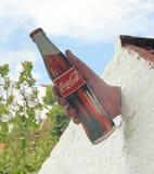 给可口可乐做广告在摩洛哥 图库摄影
