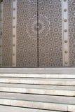 给哈桑ii摩洛哥人清真寺装门 免版税库存图片