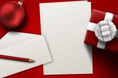 给圣诞老人的一份信函 库存图片