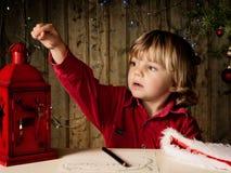 给圣诞老人的信函 库存图片