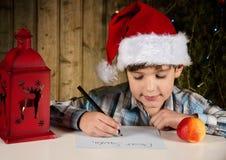 给圣诞老人的信函 库存照片