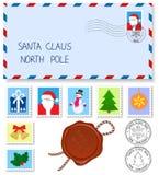 给圣诞老人的信函 免版税库存图片