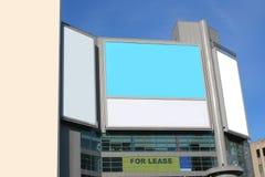 给大城市做广告 库存图片