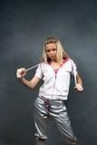 给女孩体育运动穿衣 图库摄影
