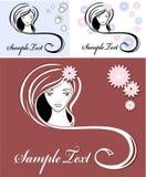 给女孩头发做广告意味 免版税库存照片