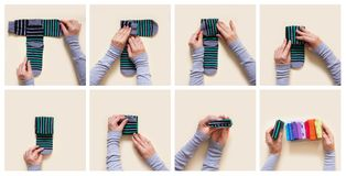 给存贮穿衣 在壁橱的命令 折叠的袜子 主要Clas 免版税图库摄影