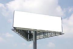 给室外的广告牌做广告 库存图片