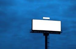 给室外的广告牌做广告 免版税库存照片