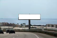给室外的广告牌做广告 库存照片