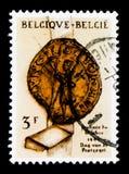 给封印,邮票天serie打蜡,大约1961年 库存图片
