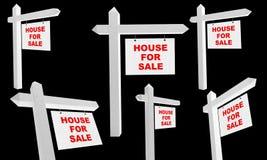 给房子销售额做广告 免版税库存图片