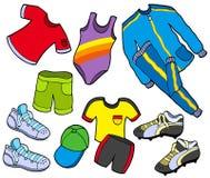 给收集体育运动穿衣 免版税图库摄影