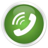给敲响的象优质软的绿色圆的按钮打电话 库存例证