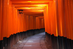 给日本京都torii装门 图库摄影