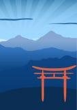 给日本装门 库存照片