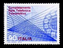 给树干拨号系统, serie打电话,大约1970年 免版税库存图片