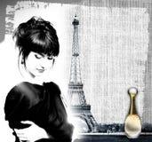 给法国香水做广告 库存照片