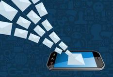 给电子邮件营销图标飞溅打电话 免版税图库摄影
