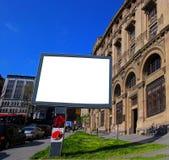 给的海报-室外广告牌做广告伊斯坦布尔空白的广告牌 库存照片