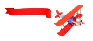 给的3d飞机做广告 免版税库存照片