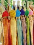 给种族分界线泰国穿衣 免版税库存照片