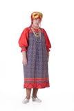 给穿衣的俄国传统妇女 库存照片