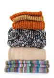 给穿衣的温暖的羊毛 库存照片
