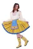 给穿衣的爱沙尼亚语传统妇女 免版税库存图片