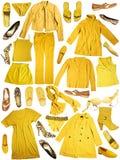 给穿衣的黄色 库存照片