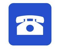 给符号打电话 免版税库存图片